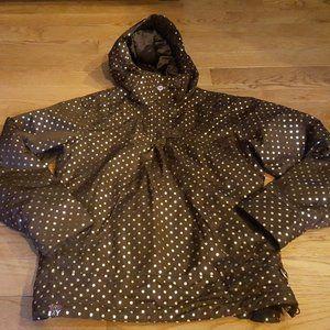 roxy wintersports brown insulated jacket sz M NWOT